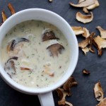 Kulajda - Czech White Soup with Mushrooms, Potatoes and Dill