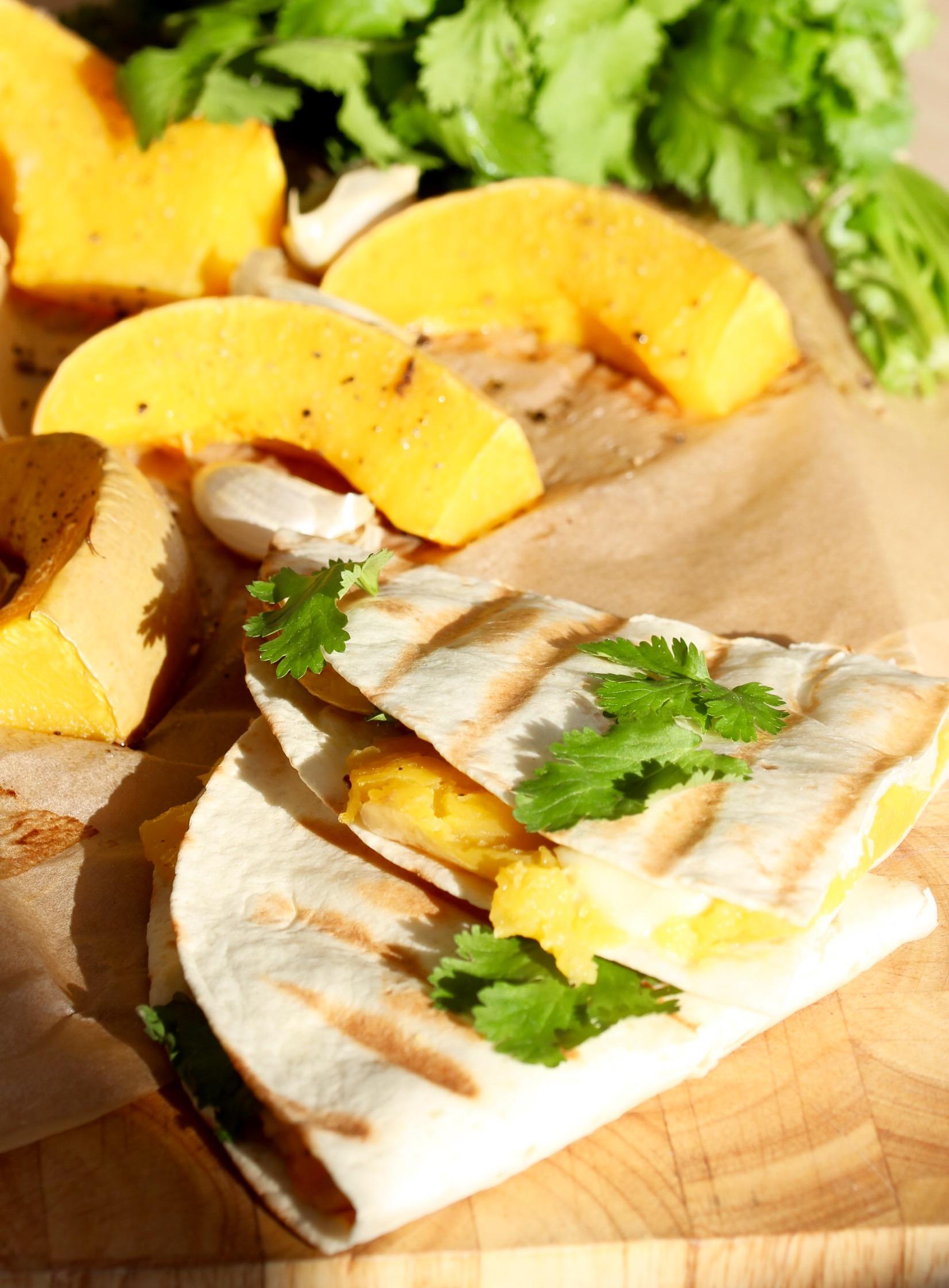 Quesadillas s pečenou dýní