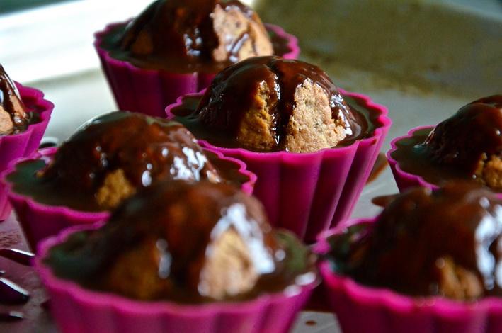 Košíčky s čokoládovou polevou
