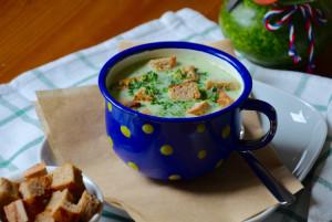 Jarní krémová polévka s medvědím česnekem 2